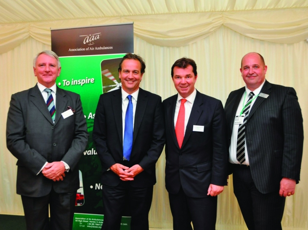 L to R Bill Sivewright AAA - Nick Hurd MP Minister for Civil Society - G...