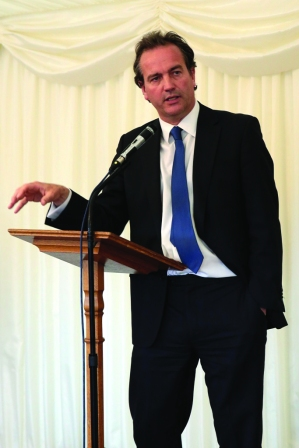 Nick Hurd MP addresses the reception